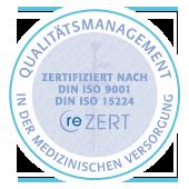 Unsere Zahnarztpraxis ist Zertifiziert nach DIN ISO 9001 und DIN ISO 15224